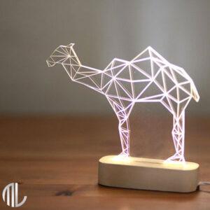 چراغ خواب سه بعدی طرح شتر