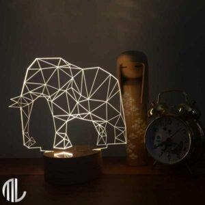 چراغ خواب سه بعدی طرح فیل