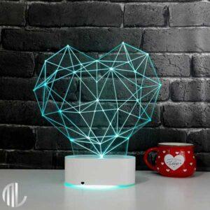 چراغ خواب سه بعدی طرح قلب