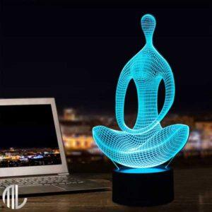 تخفیف چراغ خواب سه بعدی طرح یوگا
