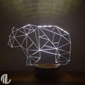چراغ خواب سه بعدی طرح خرس