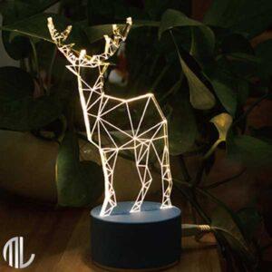 چراغ خواب سه بعدی طرح گوزن