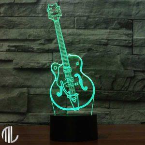 چراغ خواب سه بعدی طرح گیتار راک