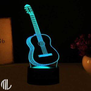 چراغ خواب سه بعدی طرح گیتار