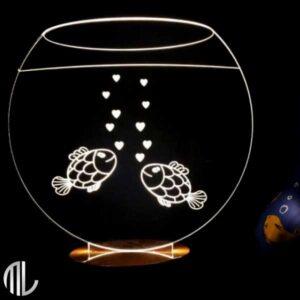 چراغ خواب ماهی سه بعدی