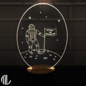 چراغ خواب سه بعدی طرح فضانورد
