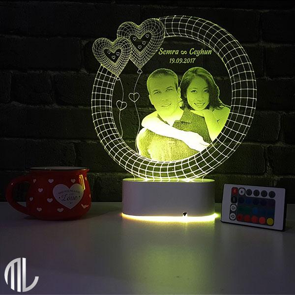 چراغ خواب سه بعدی چهره کد ML97-18