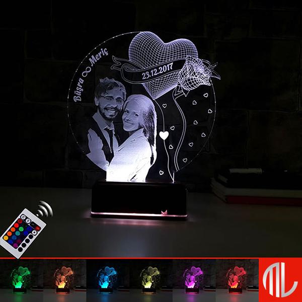 چراغ خواب سه بعدی چهره کد ML97-16