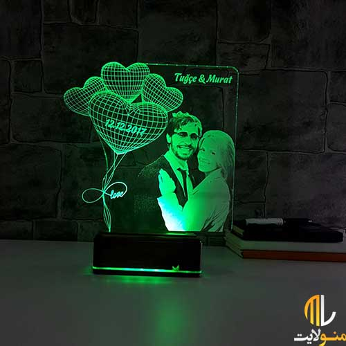 چراغ خواب سه بعدی کد ML97-10