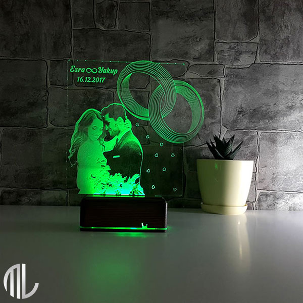چراغ خواب سه بعدی چهره کد ML97-15