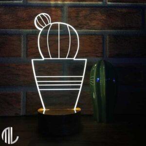 چراغ خواب کاکتوس سه بعدی