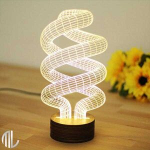 تخفیف چراغ خواب سه بعدی طرح لامپ