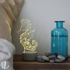 چراغ خواب سه بعدی طرح اسب آبی