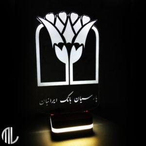 تندیس لوگو سه بعدی بانک پارسیان