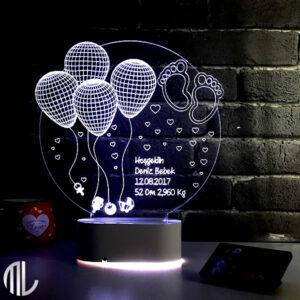 چراغ خواب سه بعدی بادکنک