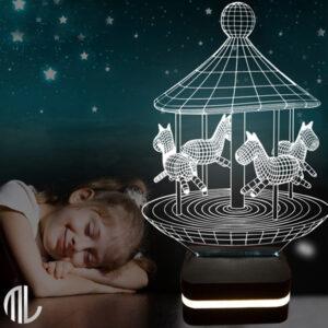 تخفیف ویژه چراغ خواب مریگوراند سه بعدی