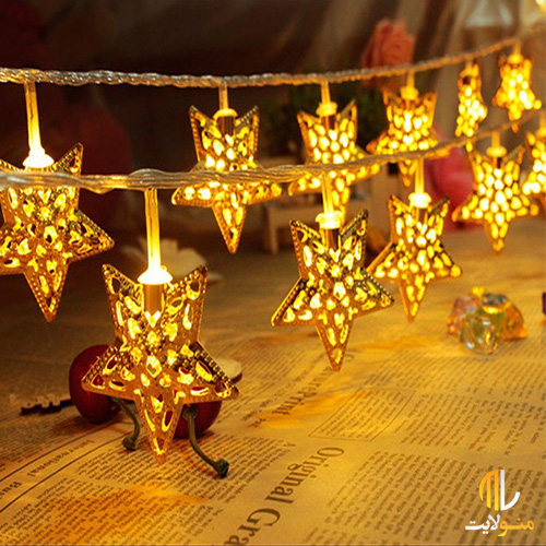 ریسه ال ای دی ستاره فلزی 2 متر